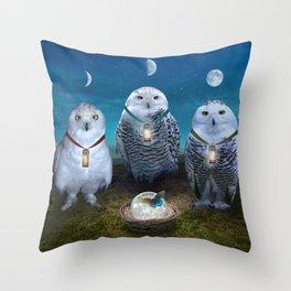Light Sentinels Throw Pillow