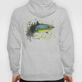 Shark - Watercolor Painting Hoody