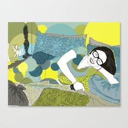 Every Girl Needs Black Frame Glasses Canvas Print