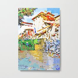 L'Aquila: collapsed hotel and rubble Metal Print