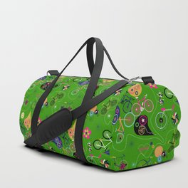 Cycledelic Green Duffle Bag