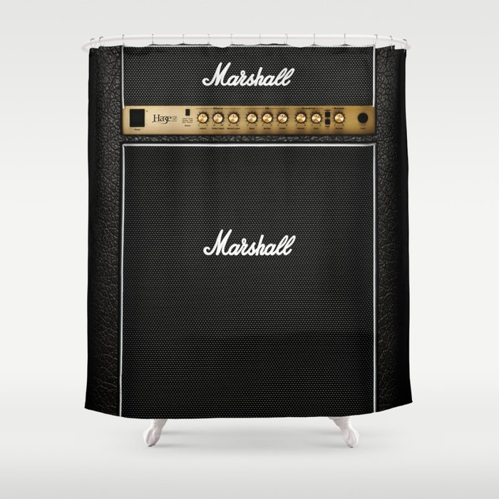 Marshall Amplifier Shower Curtain by miliarderbrown | Society6