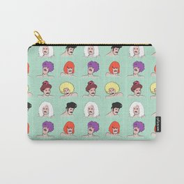 Moustaches and Wigs (pattern) Carry-All Pouch