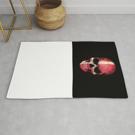 Dark Skull with Flag of Denmark Rug