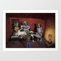 The Flaying Of ST Bartholomew By 80's tracksuit Art Print