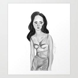 D.R.U.N.K. I.N. B.L.A.C.K. Art Print