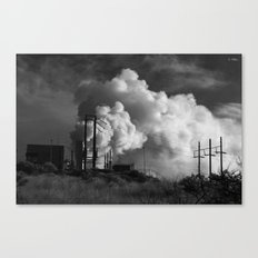 Geothermoelectrical smoke Canvas Print