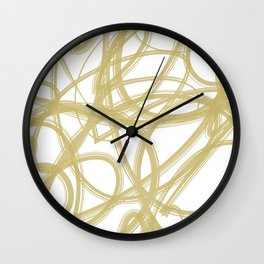 Color Madness 2 (Gold) Wall Clock