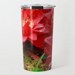 Fallen camellias Travel Mug