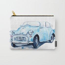 retro car blue Carry-All Pouch