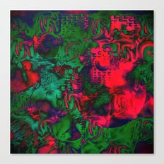 Experimental in Green and Red Canvas Print