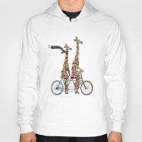 giraffe Hoodies featuring giraffe days lets tandem by bri.buckley