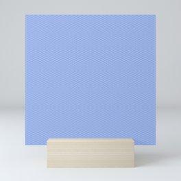 Blue Sky Seigaiha Pattern Mini Art Print