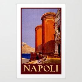 Napoli - Naples Italy Vintage Travel Art Print