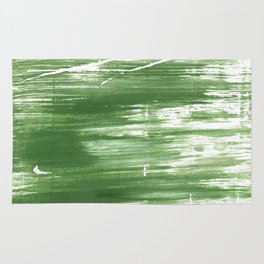 Fern green abstract watercolor Rug