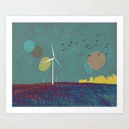 Go placidly Art Print