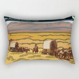 Vintage Poster - Oregon National Historic Trail (2018) Rectangular Pillow