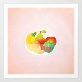 Bowl of Fruit (square) Art Print