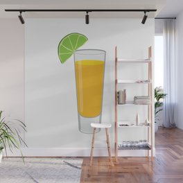 Tequila Shot Illustration Wall Mural