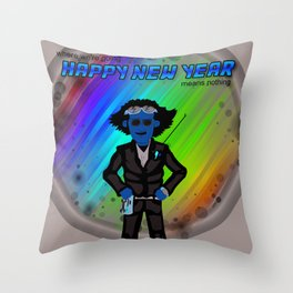 Happy New Year in the Future Throw Pillow