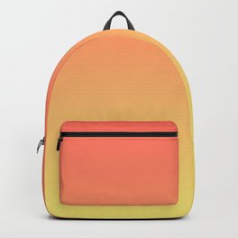 Orange Coral Yellow Gradient Ombre Pattern Backpack