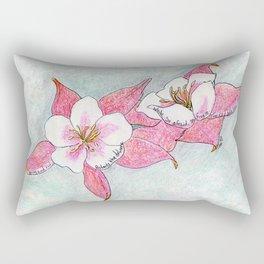 Red Columbines Rectangular Pillow