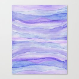 Ultra Violet Watercolor Layers Canvas Print