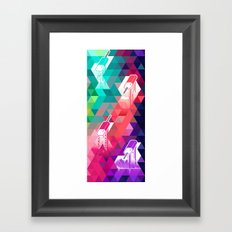 The Year in Popsicles Framed Art Print
