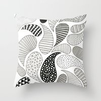 paisley Throw Pillows featuring Paisley by Anita Ivancenko