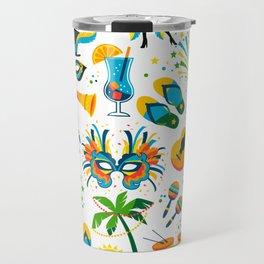 Colorful Brazilian Beach Tropical Carnaval Travel Mug