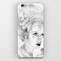 bride iPhone & iPod Skins featuring Bride by Leyla Buk