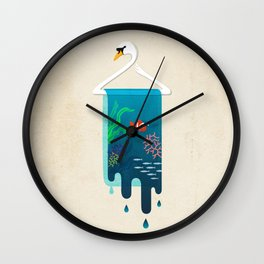 Swan Hanger Wall Clock