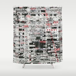 Natural Selection Doesn't Play Fair (P/D3 Glitch Collage Studies) Shower Curtain