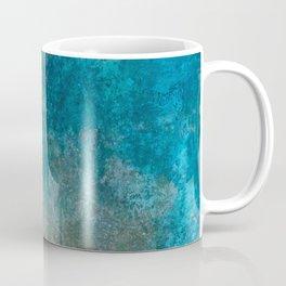 Blue Gray grunge   Grungy   Blue coral   Grunge Decor Coffee Mug