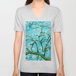 Almond Blossoms - Homage to Van Gogh Unisex V-Neck