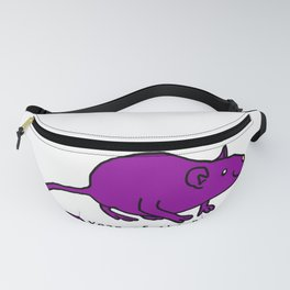 Purple Year of the Rat Fanny Pack