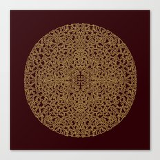 Puzzled (Moroccan Mandala) Canvas Print