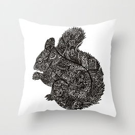 Complex Squirell Throw Pillow