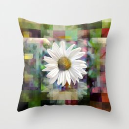 Monday 18 March 2013: asteraceae, compositae, rhythm sum Throw Pillow