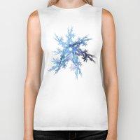 snowflake Biker Tanks featuring Snowflake by MG-Studio