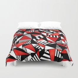 Geometric Red Duvet Cover