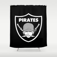 pirates Shower Curtains featuring Pirates 2 by Buby87