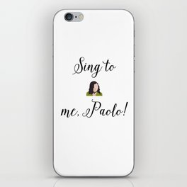 SING TO ME, PAOLO! Lizzie McGuire iPhone Skin