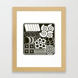 Jubako No1 Monochrome Framed Art Print
