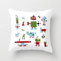Robots-RGB Throw Pillow