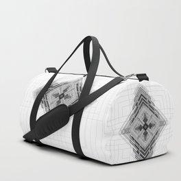 Monochromatic bold geometric shapes Duffle Bag