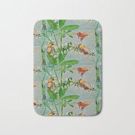 Vintage illustration bees Bath Mat