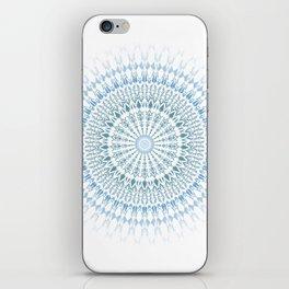 Blue White Geometric Mandala iPhone Skin