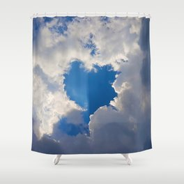 Eclipse Day Heart 2017 Shower Curtain