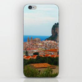 Cityscape of Cefalu Italy iPhone Skin